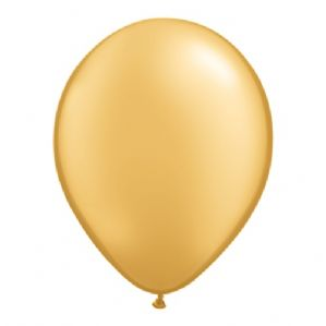 "11"" Gold Balloons - Qualatex Latex Balloons 